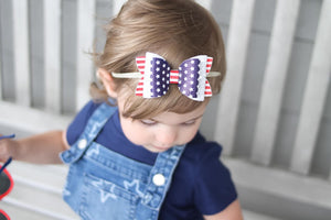 Stacked Izzy Style Bow || Independence Day