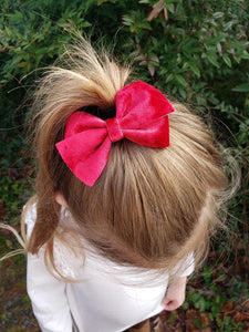 Nea Bow Style || Red Crushed Velvet
