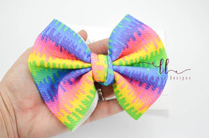 Large Julia Messy Bow Style Bow || Color Drips