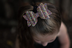 Stacked Rosie Style Bow || Karma Glitter