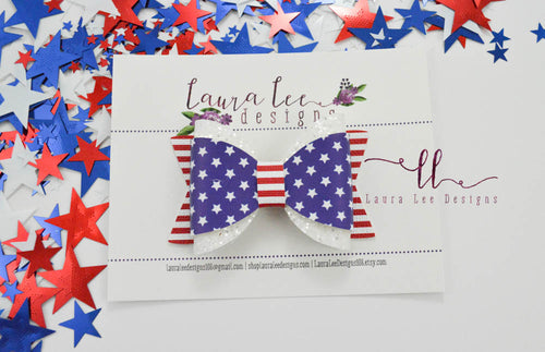 Annie Style Bow || Independence Day