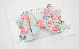 Rosie Style Bow || Lelani Floral Glitter