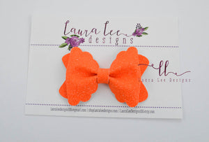 Margo Bow Style || Orange Super Sparkle Glitter