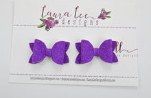 Pippy Style Pigtail Bow Set || Purple Super Sparkle Glitter