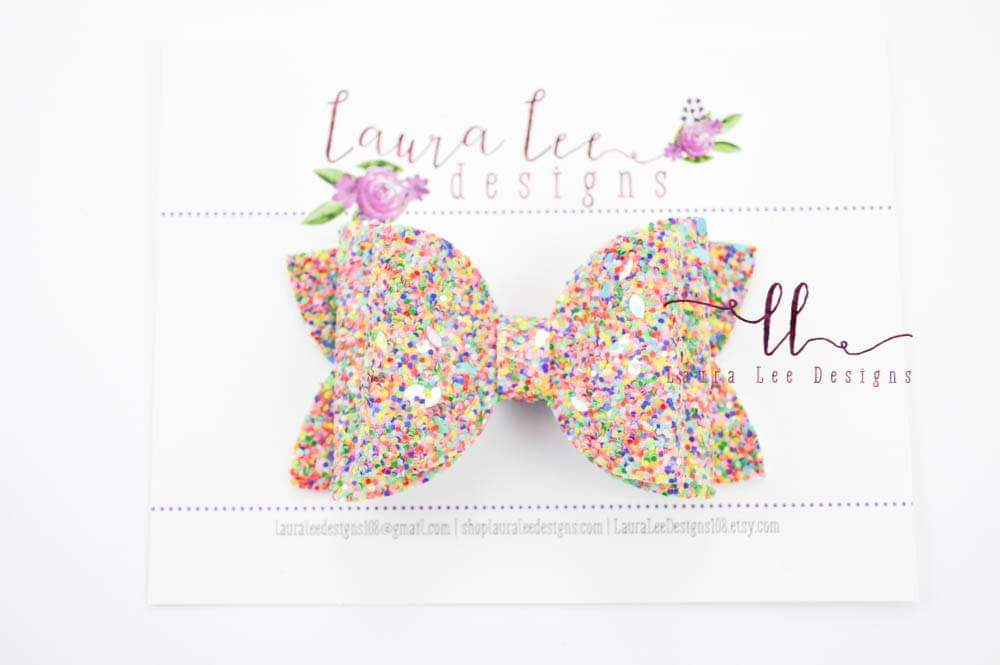 Stacked Izzy Style Bow || Fruit Loops