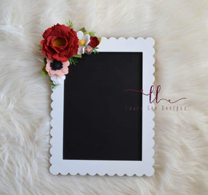 Felt Flower Embellished Chalk Board
