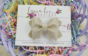 Scalloped Margo Bow || Ultimate Sparkle Fine Glitter || You Choose Bow Style