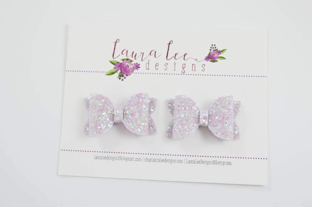 Pippy Style Pigtail Bow Set || Frosted Wisteria Bows