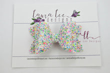 Izzy Stacked Style Bow || Rock Around the Block Glitter