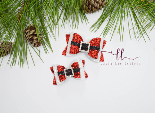 PREORDER Santa Buckle Bow || You Choose Bow Style