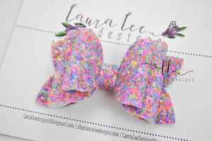 Izzy Stacked Style Bow || Theme Park Glitter