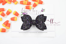 Izzy Stacked Style Bow || Twilight Glitter