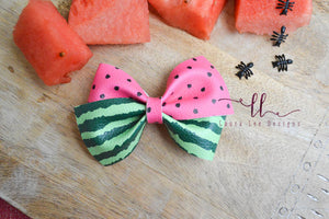 Nea Bow Style || Watermelon Vegan Leather