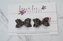 Pippy Style Pigtail Bow Set || Witches Brew Glitter Bows