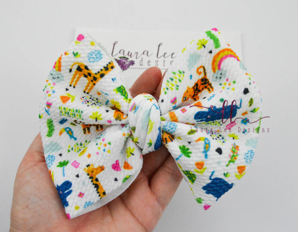 Large Julia Messy Bow Style Bow || Zoo