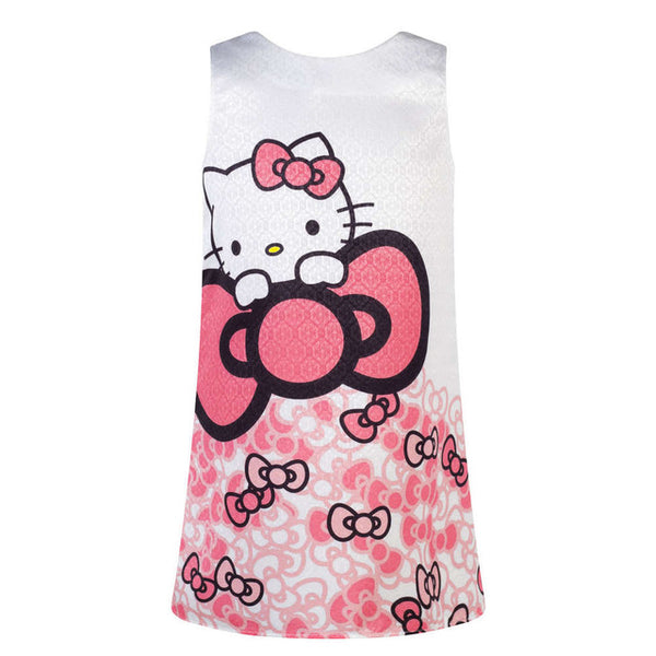 Girls Dress Hello Kitty Summer Baby Clothes Wear Birthday Party Children Clothing 3 4 5