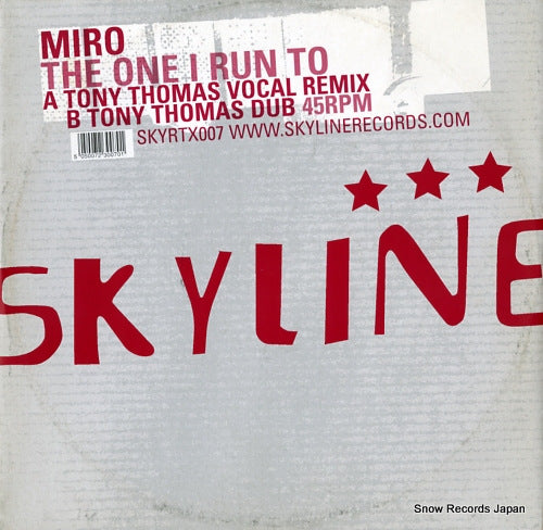 MIRO - the one i run to - SKYRTX007 - Snow Records Japan