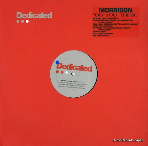 MORRISON - do you think - DED023 - Snow Records Japan