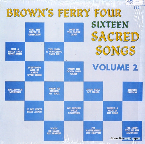 BROWN'S FERRY FOUR - sixteen sacred songs volume 2 - KING590 - Snow Records Japan