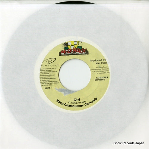 BABY CHAM, AND JIMMY CHEEZTRIX - girl - MHPD2805-3 - Snow Records Japan