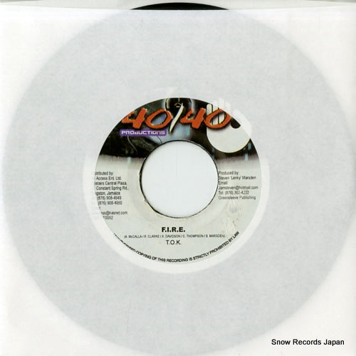 TOK - fire - DSRASIDE-2826 - Snow Records Japan