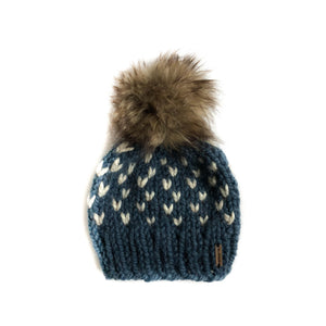 Little Northmoor Faux Fur Pom Hat