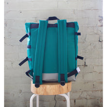 Roll and Run Backpack - Cyan & Silver