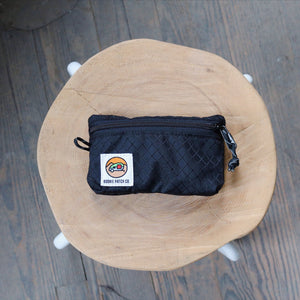 Small Zipper Pouch - Black Diamond