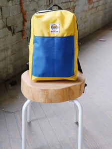 Mini Backpack- Lemon & Royal