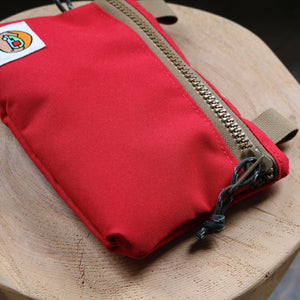 Large Zipper Pouch - Cardinal & Dust