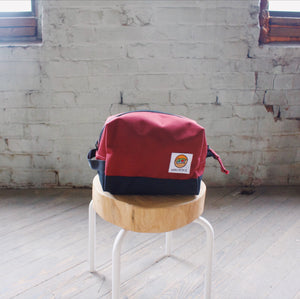 Dopp Bag- Maroon & Black