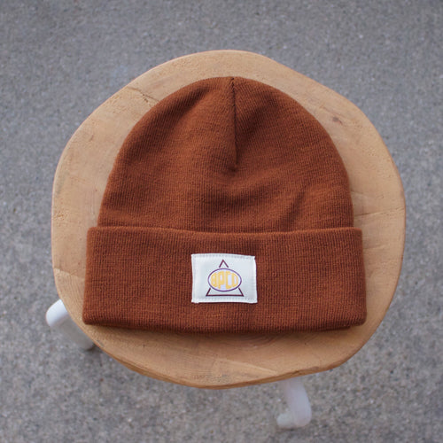 Knit Beanie - Brown Sugar