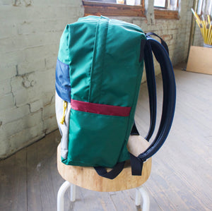 The Commuter Backpack - Jalapeño & Navy