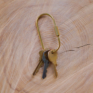 Brass Locking Key Ring