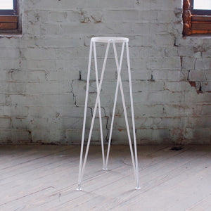 Standing Geometric Planter - White