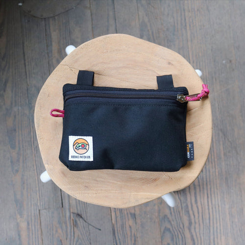Large Zipper Pouch - Black