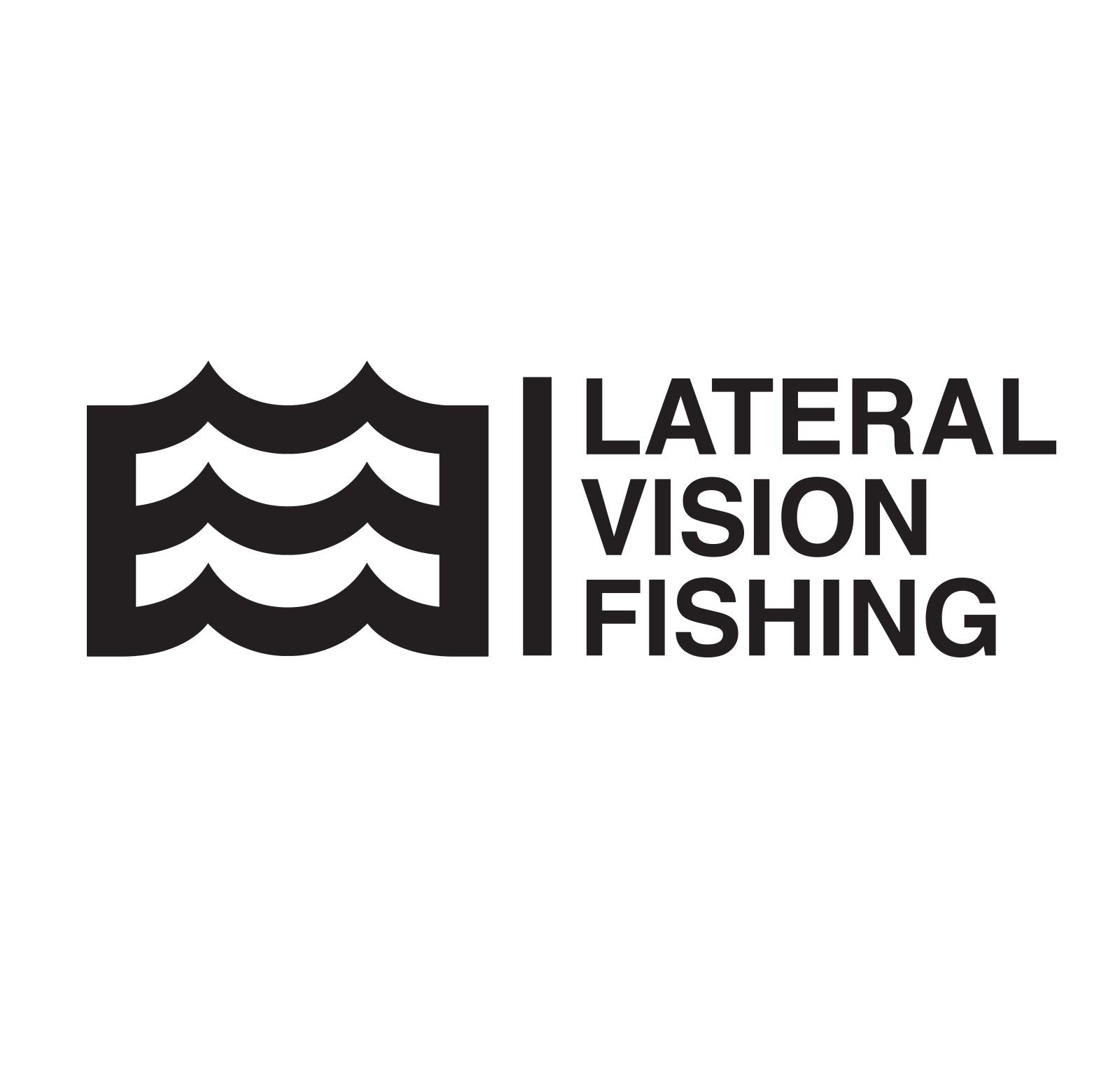 "14"" Lateral Vision Fishing Decal (Black)"