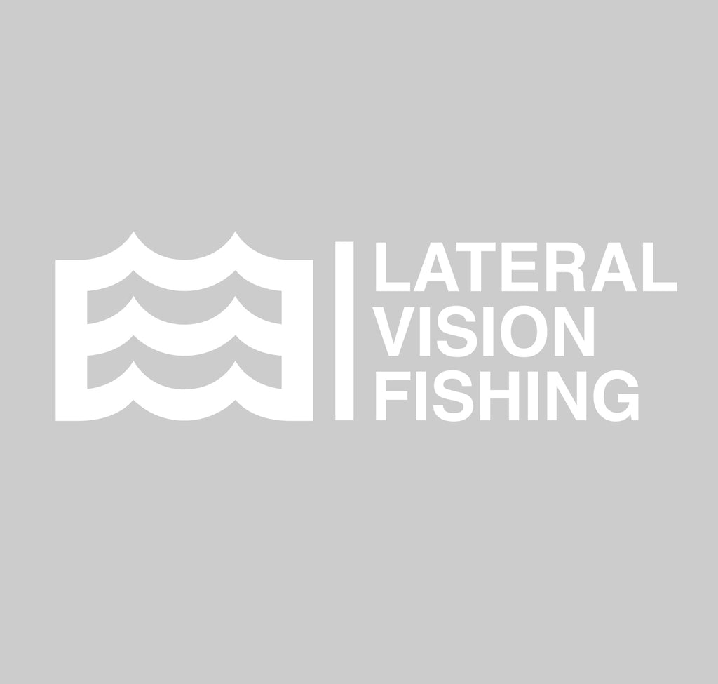 "14"" Lateral Vision Fishing Decal (White)"