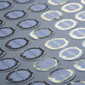 French style gold foiled sticker