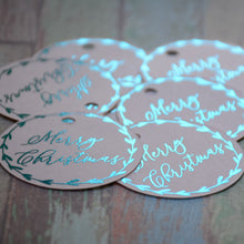 Personalised Round Christmas Swing Tag (250 gsm)
