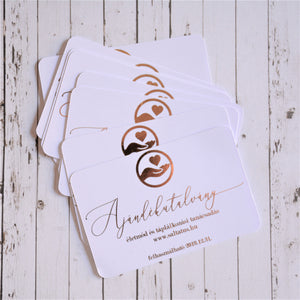 Rectangle Foiled Gift Voucher