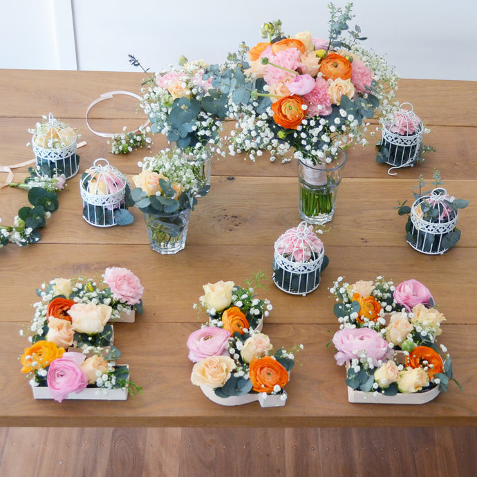 Handmade Floral Letters