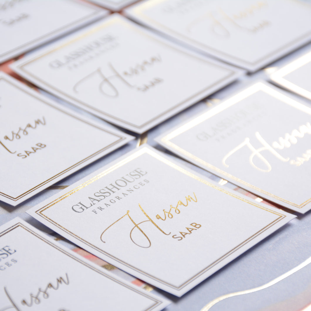 Glasshouse Personalised Candle Tag White Background - BIG Candle box