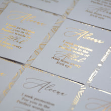 Personalised Gold Foiled Seek Protection From Allah Card