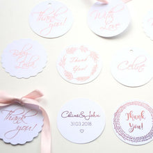 Personalised Round Foiled Paper Tag, Swing Tag (250 gsm)