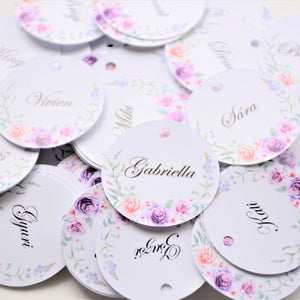 Personalised Round Swing Tag (250 gsm)