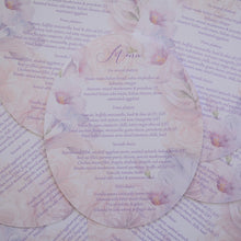 Personalised Oval Foiled Menu- Plate Cover