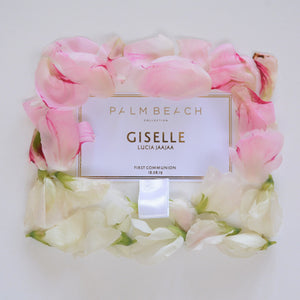 Personalised Palm Beach Candle Tag  9 cm x 5 cm