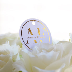 Personalised Round Foiled Swing Tag (250 gsm)