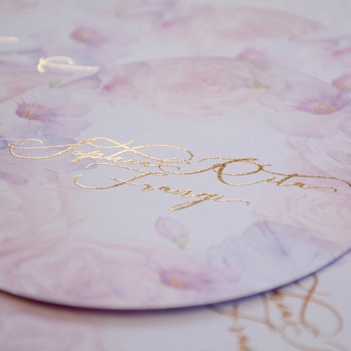 Personalised Oval Menu With Foil